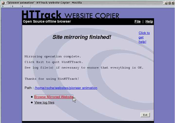HTTrack Website Copier snapshot #7
